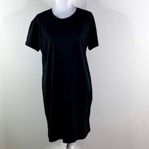 everlane women's black T-Shirt cotton dress SZ L